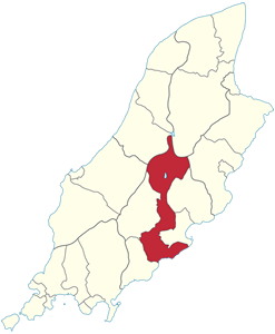 Map of Braddan Isle of Man